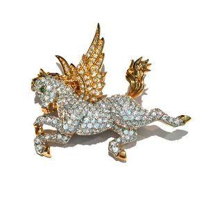 Swarovski Crystal Pegasus Brooch Pin